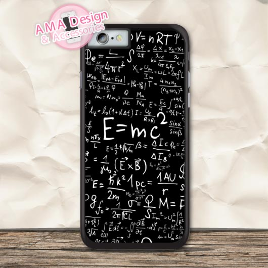 E mc2 Physics Formulas Protective Case For iPhone X 8 7 6 6s Plus 5 5s SE 5c 4 4s For iPod Touch