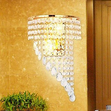 High Quality Modern Crystal Led Wall Lamp With 2 Lights For Living Room,LED  Wall Sconce light Free Shipping new design nature white 2heads 6w 30cm led modern crystal wall lights lamp sconce factory wholesale led lightings