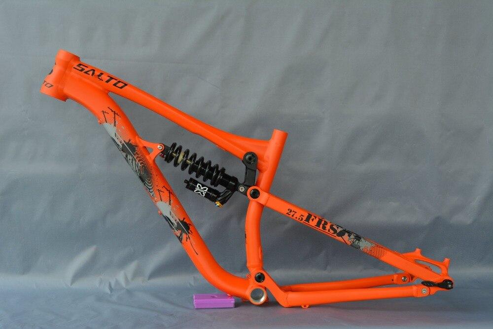 2018 cadre de vélo en alliage de cavalier gratuit amortisseur arbre arrière suspension XC cadre de vélo de fond 27.5 ER DH pièces de vélo
