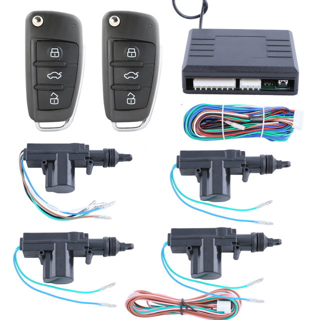 Universal Quality remote control central door locking system 4 doors 1 control 3 with custom flip  sc 1 st  AliExpress.com & Universal Quality remote control central door locking system 4 doors ...