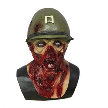 Hot Selling Army Captain Leister Yelling Rotted Zombie Helmet Halloween Zombie Mask