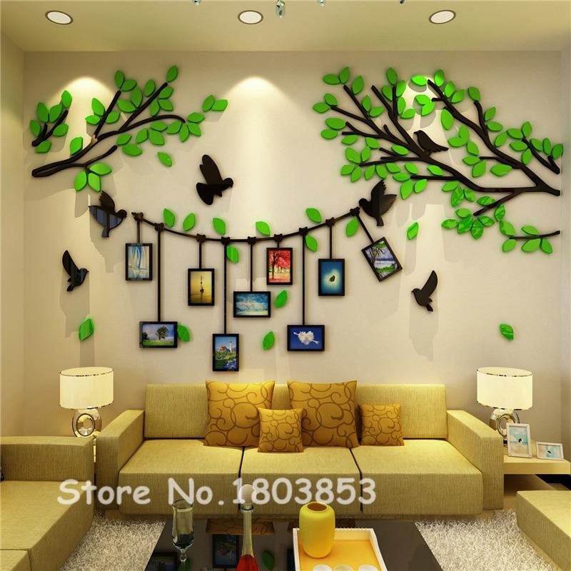 New Arrival Creative DIY Photo Tree Acrylic 3d Wall Sticker Living ...