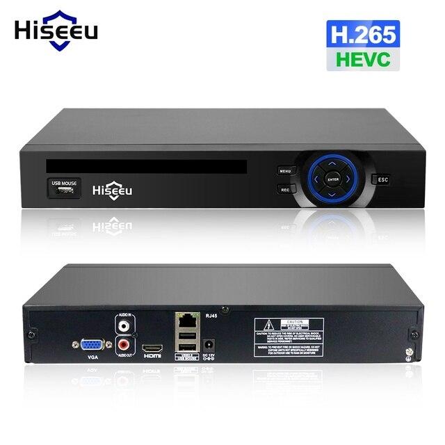 Hiseeu H.265 2HDD 32CH CCTV NVR 960P 1080P 3M 5M DVR Network Video Recorder  Onvif 2.0 for IP Camera 2 SATA XMEYE P2P Cloud