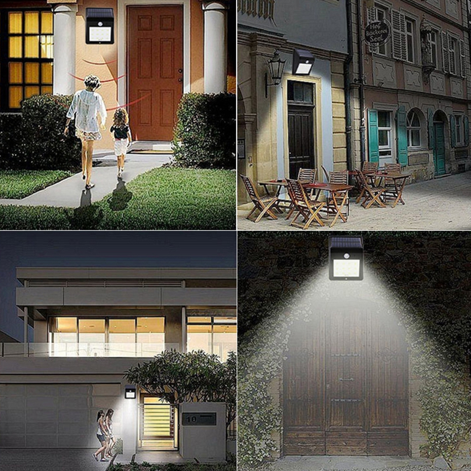 HoozGee CLASSIC STYLE HOT SALE Solar Wall Light Outdoor Lighting 8/12/16/20 LED PIR Motion Sensor Garden Lamp Patio Yard Lights