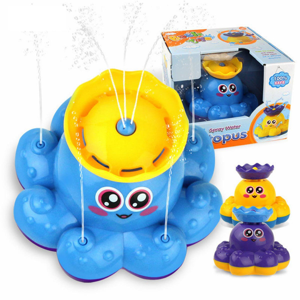 Bath Toy Classic Toys Soft Squeeze Bathing Baby Bathroom Cartoon Animal Automatic Spout Taps Spray Kids Shower Faucet Play Water