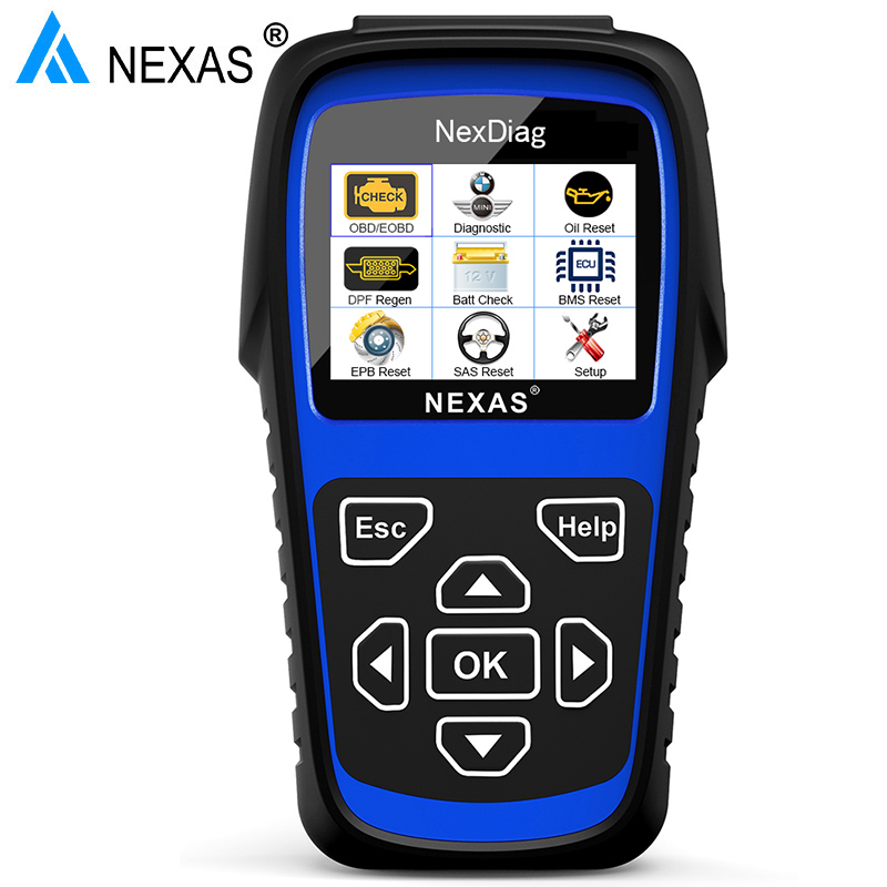 Nexas ND601 Automotive Scanner OBD2 Diagnostic Tool Auto Diagnostic Tool Support DPF Regeneration Oil Reset For BMW Full System vdm ucandas wifi full system automotive diagnostic tool multi language newest version v3 73 include for h onda adapter