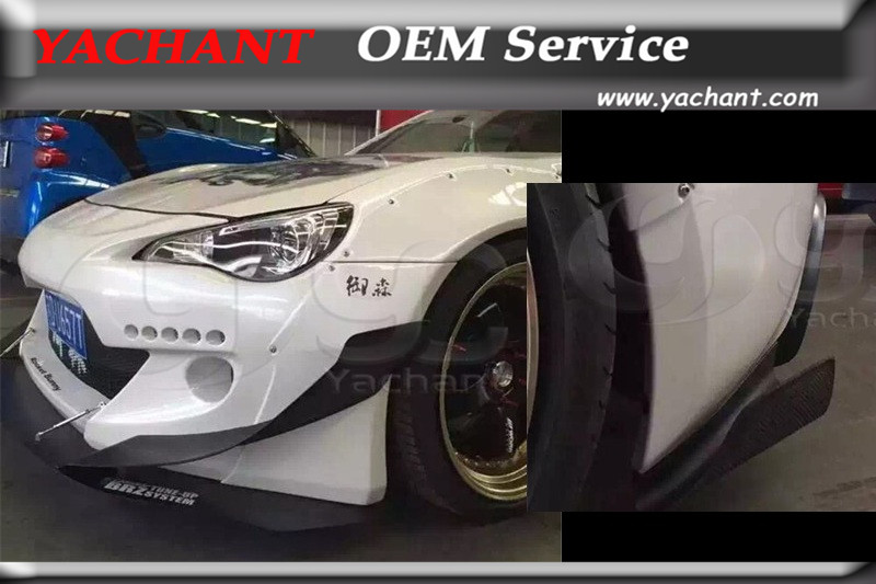 FRP Fiber Glass Canards 6Pcs Fit For Toyota GT86 FT86 ZN6 FRS BRZ ZC6 GRD X Rocket Bunny Ver.2 Style Front & Rear Bumper Canards