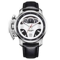 Reef Tiger/RT лучшие Брендовые мужские спортивные часы Стальные водонепроницаемые наручные часы хронограф секундомер часы Masculino Relojes RGA2105