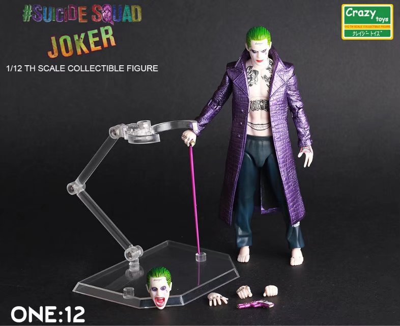 15CM Crazy toys Suicide Squad joker action figure collectible model toys for boys