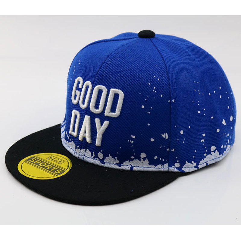 US $3 78 10% OFF|Children 3D Embroidery Letters Flat Bill Snap back Hat  Boys Girls Fashion Hip Hop Baseball Caps Blue White Red Black-in Baseball  Caps