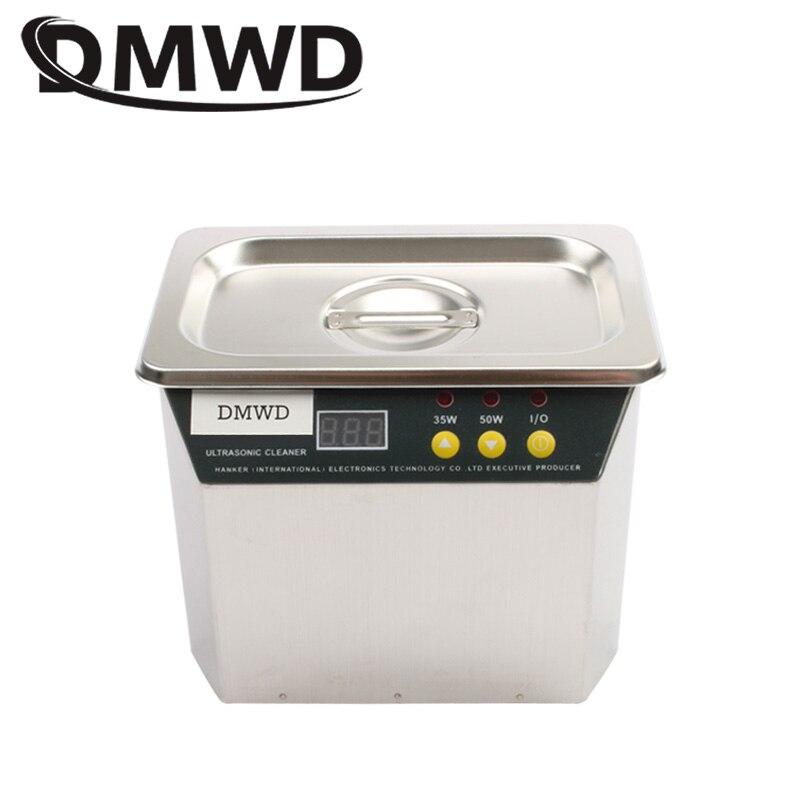 DMWD 35 W/50 W Numérique Nettoyeur À Ultrasons Ultrasons machine à nettoyer haute horlogerie Lunettes À Laver baignoire en acier inoxydable 110 V 220 V