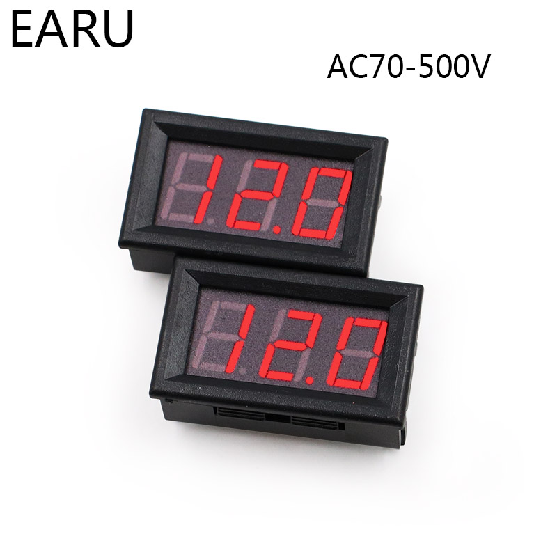 AC70-500V Voltmeter Mini LED Display Digital <font><b>Voltage</b></font> Meter Moniter Tester Instrument 0.56'' Inch Red Factory Online Wholesale image