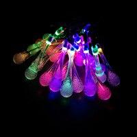 YIYANG Xmas Ağacı Yağmur Damlası Waterdrop LED Solar Lamba Dize Işıkları Yenilik Açık Bahçe Dekor. ışık Veranda Fener 4.8 M 20 LEDs