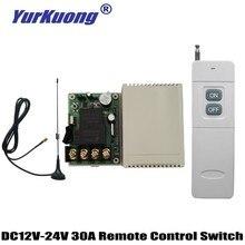 DC 12 V 13 V 14,8 V 16 V 18 V 24 V 30A реле Переключение контактов пульт дистанционного управления мотор лампа свет электрические приборы Дистанционное включение