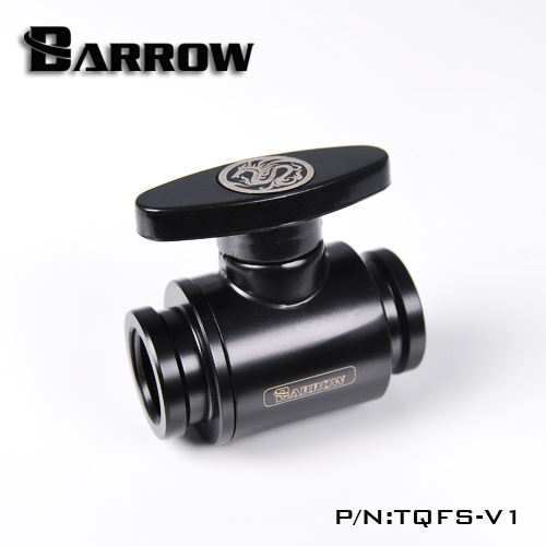 BARROW Water Valve Plastic Handle Body Brass G1/4' Inner Female To Female Switch Water Cooling Computer Fittings,TQFS-V1