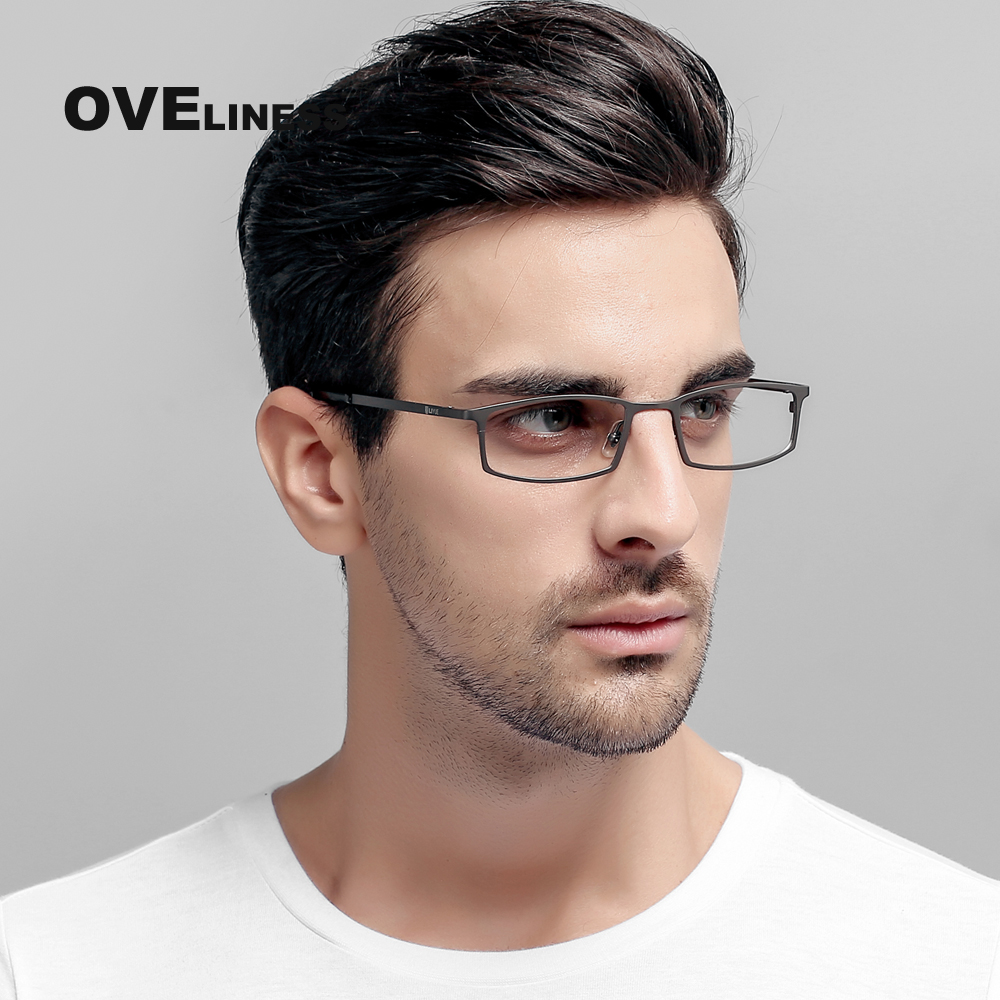 Business titanium eyeglasses frames men full rim optical glasses myopia Prescription spectacle High Quality Eyewear Frames