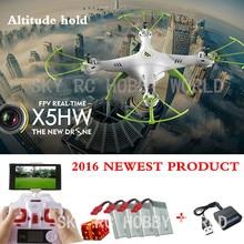 Original syma x5hw 2.4ch 4ch rc quadcopter drone helicóptero cámara wifi de transmisión con la altitud de alta función de retención