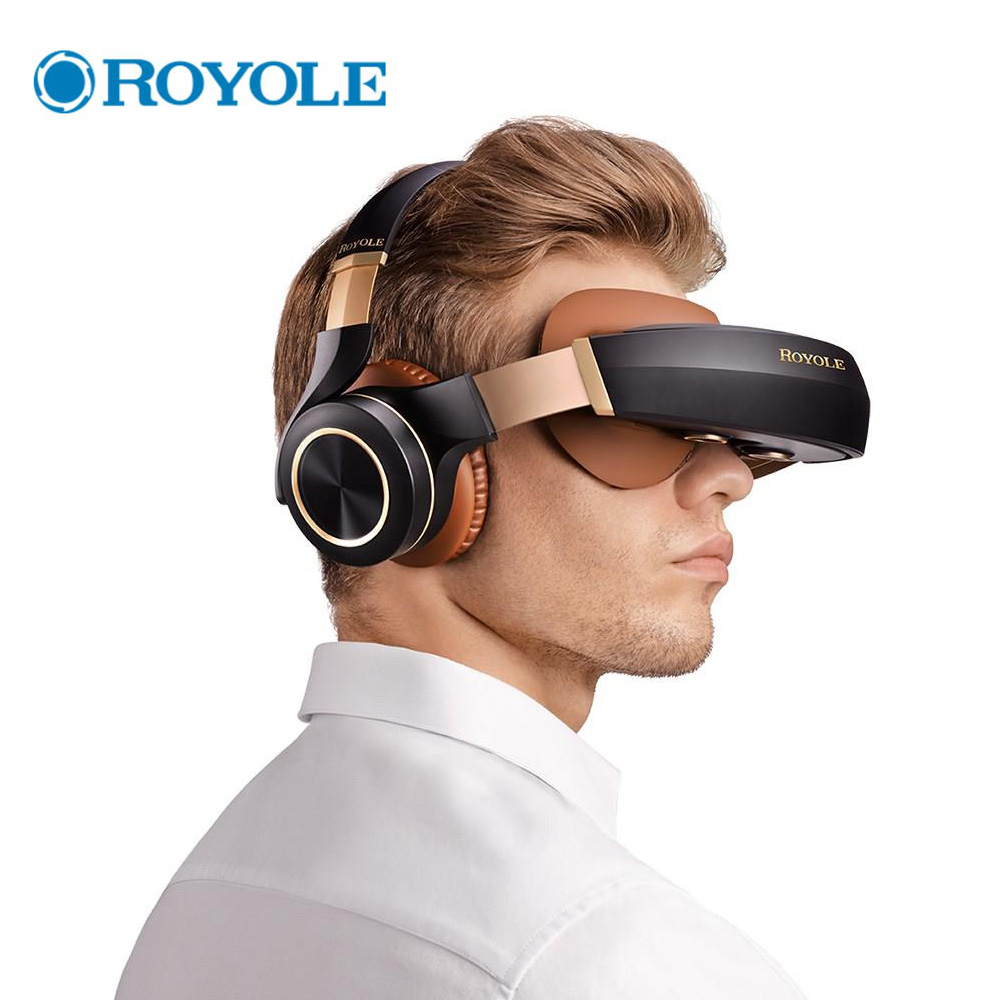 Royole Moon All in One 2GB/32GB 3D VR Headset HIFI Headphone Immersive Virtual Reality Glasses 3D Virtual Mobile Theater Glasses vr boss fov120 immersive 3d vr virtual reality headset ipd focus adjustable volume control call answering