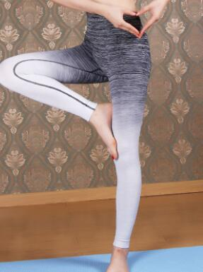 1pcs/lot free shipping  Yo-ga Leggings For Women High Waist gymnasium Clothing campaign Slimming legging Gradient long legging
