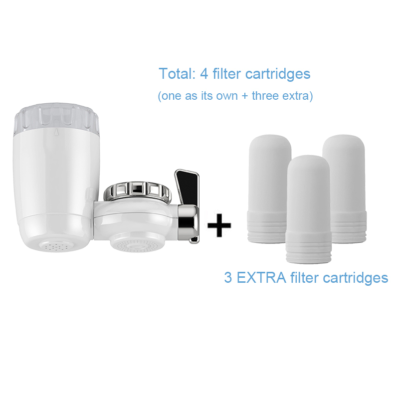 Hotsale Kitchen Tap Faucet Water Filters for Household Purifier with 3 EXTRA Ceramic Filter Cartridge Pure filtro Free ShippingHotsale Kitchen Tap Faucet Water Filters for Household Purifier with 3 EXTRA Ceramic Filter Cartridge Pure filtro Free Shipping
