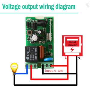 Image 4 - KTNNKG 433MHz AC220V 1CH Wireless Remote Control Switch Relay Module Smart Home Receiver for 433 MHz RF Transmitter
