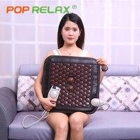 POP RELAX турмалин, германий Сидушка матрас литий ионный термотерапия для здоровья; Подогреваемая Массажная матовый Турмалин коврик для сидени