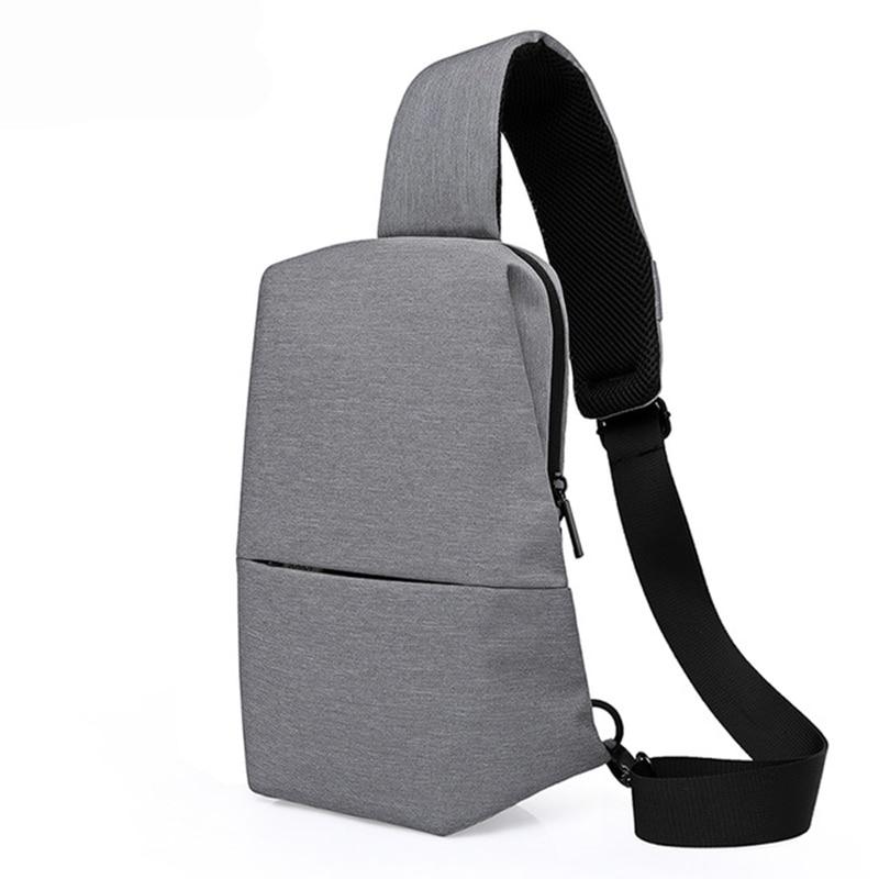 New Arrival Sling Shoulder Bag Chest Pack Men Messenger Bags Casual Travel Crossbody Bags Bolsa string sling pack