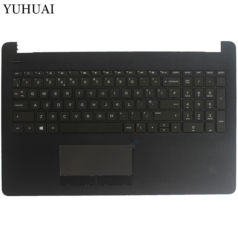 UK laptop keyboard for HP Pavilion 15-BW 15-BS 250 G6 255 G6 256 G6 keyboard with Gray Palmrest Upper Cover Without touchpad цена