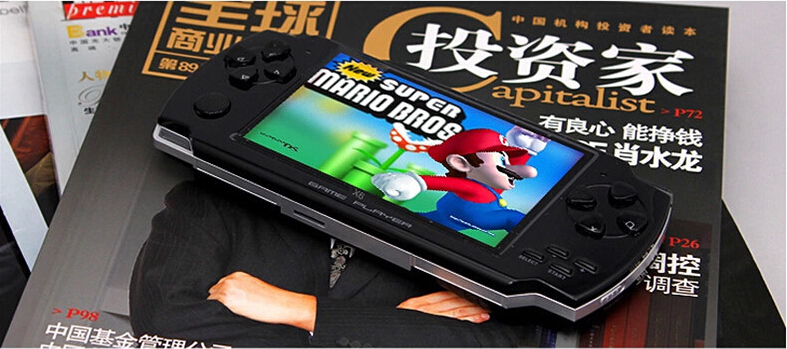 Coolboy X6 Handheld Game Consoles Built 500 Games 4.3 inch 36 Language Video Game Console With MP3 MP4 Player Camera juegos