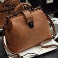 Nubuck Leather Doctor Handbags Women Shoulder Bags Plaid Pu Messenger Bag Lady Totes Small Crossbody Sling Bolsos Brand Designer