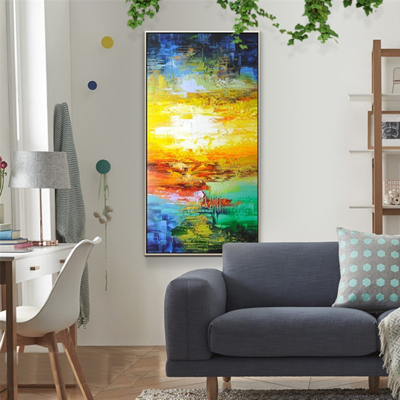 Canvas painting cuadros decoracion nordic abstract acrylic painting Wall art wall Pictures for living room home decor quareos 92 in Painting Calligraphy from Home Garden