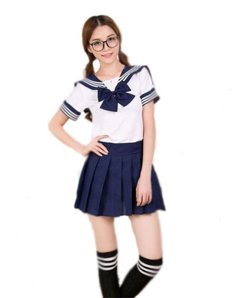 Japanese School Girl Uniform Sailor Moon Uniform Cosplay -1530