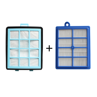1x Exhaust Vents Filter +1x Intake Vents HEPA Filter  For Replacement Philips FC8760 FC8761 FC8764 FC8766 FC8767 FC9712 FC9714