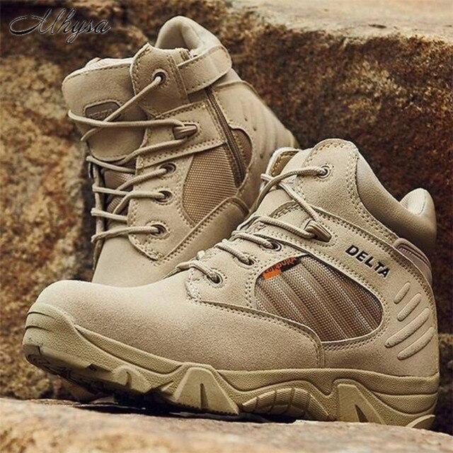 Mhysa 2018 di Inverno di Autunno Degli Uomini di Stivali Militari di Qualità Speciale Forza di Combattimento Deserto Tattico Caviglia Barche Dell'esercito di Lavoro Scarpe S835