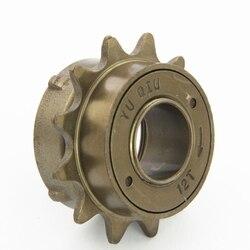 Koło zamachowe rowerowe 34 mm 12T ząb jednoobrotowe stałe koło zamachowe wykonane ze stali z ulepszoną antykorozyjną obróbką akcesoria rowerowe w Wolnobiegi rowerowe od Sport i rozrywka na