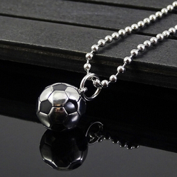 Новое поступление, модное ожерелье из титановой стали с подвеской в виде футбольного мяча, металлическая цепь, ювелирные изделия для мужчин...