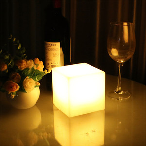 Image 2 - Thrisdar Dimmable 16 Color LED Cube Bedside Night Light Battery Powered Ambiance Cube Night light Kids Bedrooms Mood Table Lamps