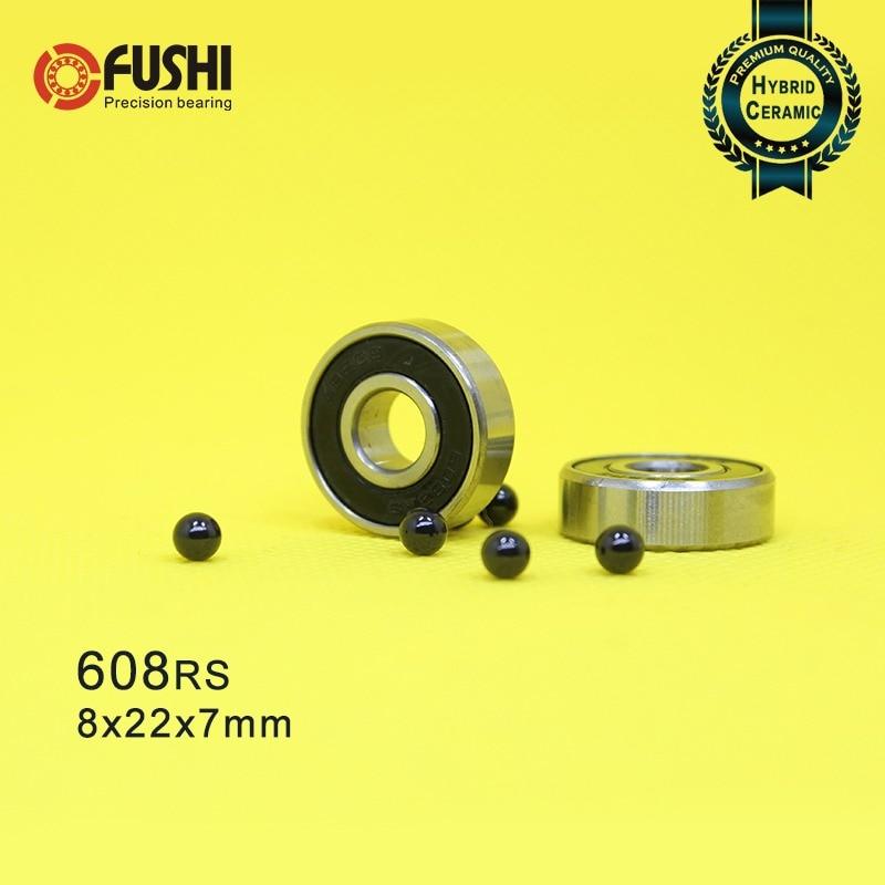 1x 608 HYBRID Ceramic Bearing Si3N4 Ball Bearing 8x22x7mm FIDGET SPINNER EDC