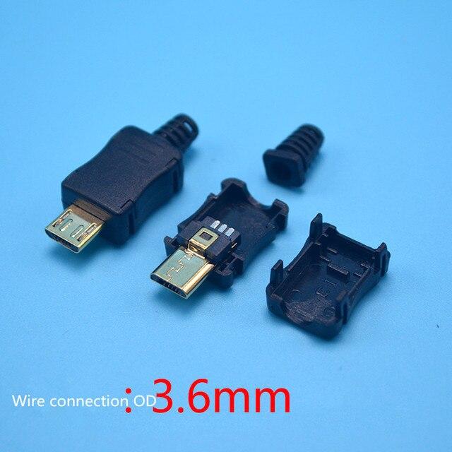 Micro 5 p vergoldete stecker DIY lötdraht typ MIC USB männlichen ...