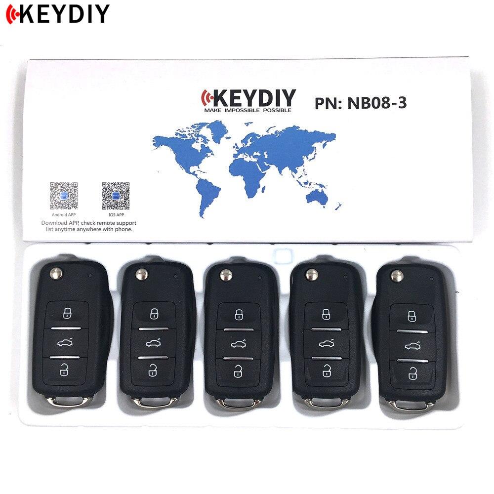 5 ピース/ロット、 KEYDIY オリジナル KD900/KD X2 キープログラマ NB08 3 ユニバーサル多機能 KD ミニリモコンと PCF チップ  グループ上の 自動車 &バイク からの 車のキー の中 1