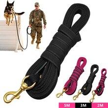 كلب طويل طوق من النايلون عدم الانزلاق الكلب تتبع الرصاص المقود ل كلاب متوسطة وكبيرة الحجم المشي التدريب 2 متر 3m 5 مترالمقاود