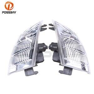 POSSBAY Car Front Indicator Fog Light Housing Clear Lens for Nissan X-Trail T30 Car Lower Corner Bumper Foglamp Shell(China)