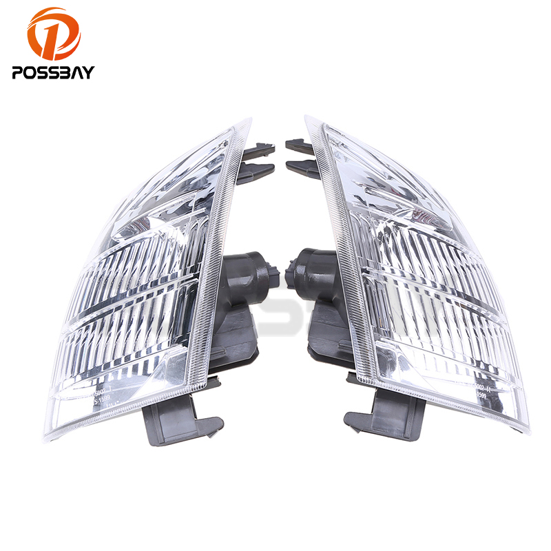 POSSBAY Car Front Indicator Fog Lights Without Light Bulbs Clear Lens for Nissan X-Trail T30 Front Lower Bumper Foglamp Shell