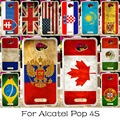 Silicone Mobile Phone Case For Alcatel OneTouch POP 4S OT-5095K 5.5 inch One Touch Pop4S 5095 Cover National Flag America Shell