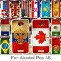 Teléfono móvil de silicona case para alcatel onetouch pop 4s ot-5095k 5.5 pulgadas de Un Solo Toque Pop4S 5095 Cubierta de la Bandera Nacional de América Shell