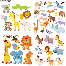 ZOTOONE Cute Animals Mix Patches for Body Iron-on Transfer Patch T-shirt Washable Applications Kid Heat on Clothing
