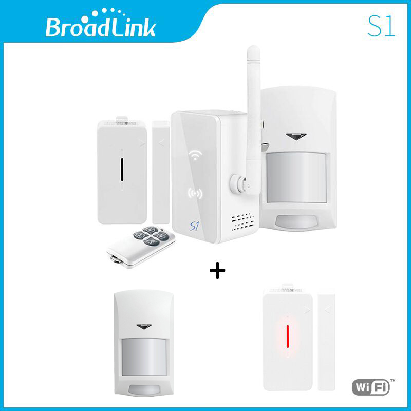 все цены на New Broadlink S1/S1C SmartOne Alarm&Security Kit +TWO sensor For Home Smart Home Alarm System IOS Android Remote Control онлайн