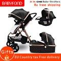 RU navio livre! Carros de bebê carrinho de Bebê de ouro alta paisagem 3 em 1 2 em 1 carrinho com assento de carro do bebê carrinho de criança