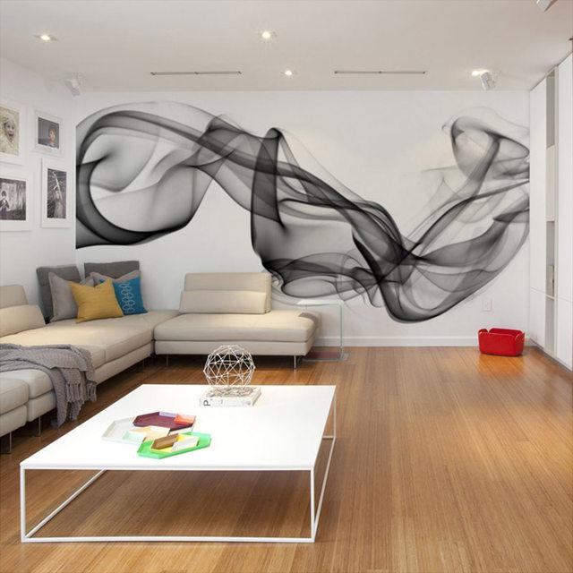 Custom Foto Tapete Moderne 3D Wandbild Tapete Schwarz Weiß Rauch Nebel  Kunst Design Schlafzimmer Büro Wohnzimmer Wand Papier