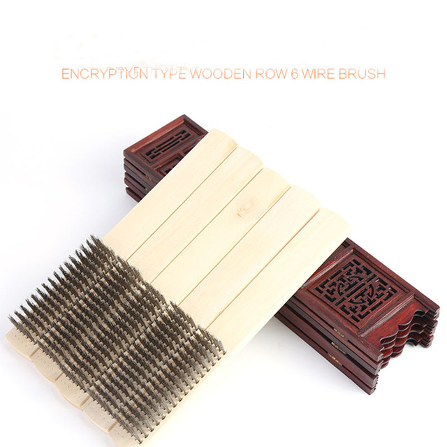 12pcsbox High Grade 304 Stainless Steel Wire Brush Wooden Handle Roughing Tools Free Shipping In Brush From Tools On Aliexpresscom Alibaba Group